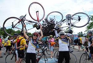 Dr. Catherine Poh at the Ride to Conquer Cancer